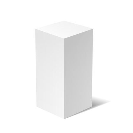 rotations: White 3D box isolated on a white background
