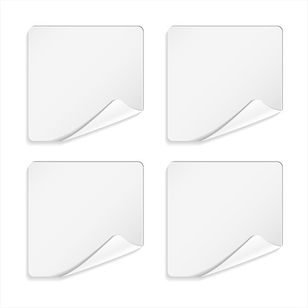 tip style design: White sticker or note paper on white background. Vector illustration