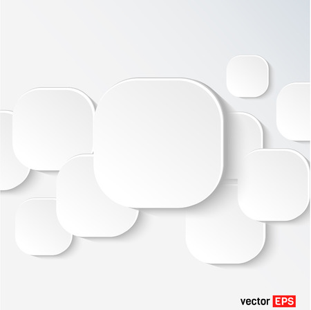 dialog balloon: White speech and thought bubbles, vector blank design elements