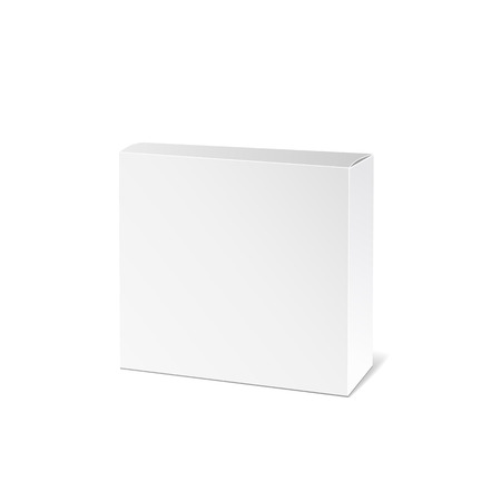 packaging box: Realistic White Package Box. Packaging Product. Vector illustration.