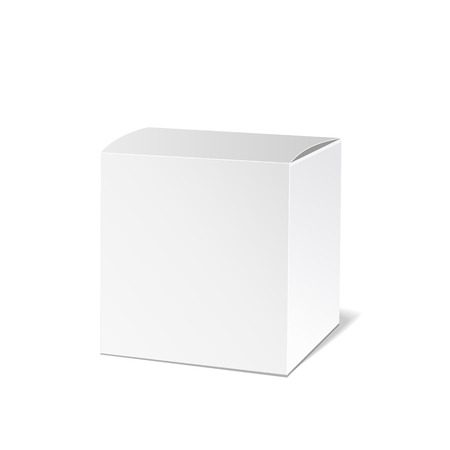 product box: Realistic White Package Box. Packaging Product. Vector illustration.