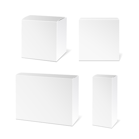 product box: Realistic White Package Box. Packaging Product.