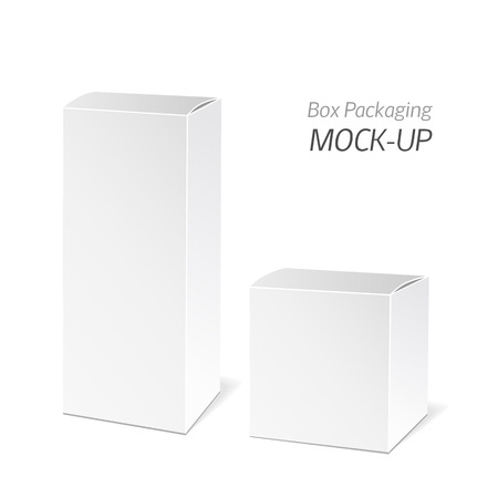 packaging box: Realistic White Package Box. Packaging Product.