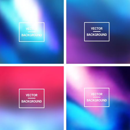 Abstract colorful blurred vector backgrounds.  Elements for your website or presentation.