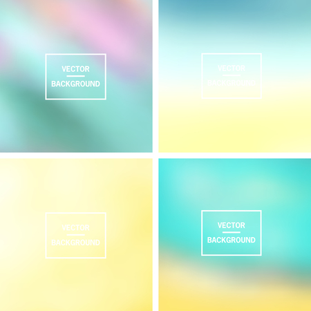 website backgrounds: Abstract colorful blurred vector backgrounds.  Elements for your website or presentation.