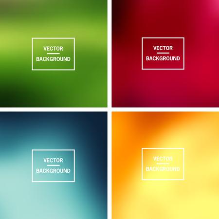 Abstrakte bunte verschwommene Vektor Hintergründe. Elemente für Ihre Website oder Präsentation. Standard-Bild - 46960796