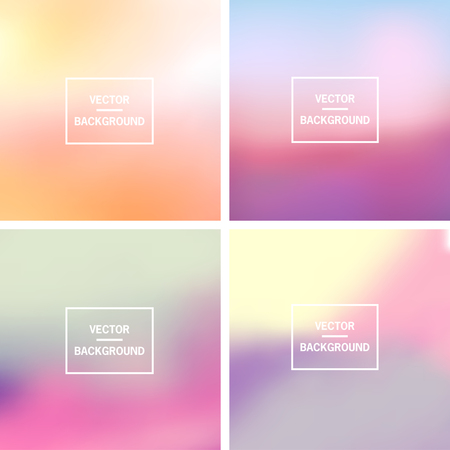 gradient meshes: Abstract colorful blurred vector backgrounds.  Elements for your website or presentation.