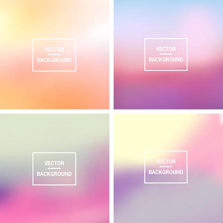 Abstracte kleurrijke wazig vector achtergronden. Elementen voor uw website of presentatie.