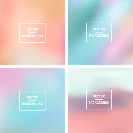 abstrait: Colorées abstraites floues vecteur horizons. Éléments pour votre site web ou la présentation.