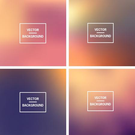 Abstrakte bunte verschwommene Vektor Hintergründe. Elemente für Ihre Website oder Präsentation.