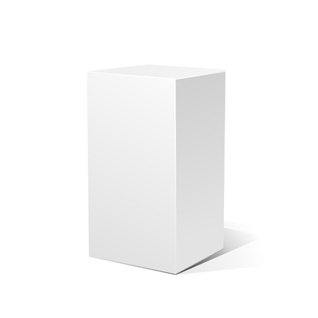rotations: White 3D box isolated on a white background. Vector illustration for your design.