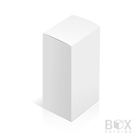 software design: Realistic White Package Box. Template for your design. You can use those packing for Software, Cosmetics, Electronic Device and Other Products. Vector illustration.