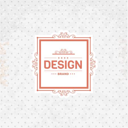 boutique hotel: Retro insignias modelo de la vendimia en el fondo retro. dise�o elegante de lujo para el caf�, restaurante, boutique, hotel, tienda, joyas, insignias y etiquetas.