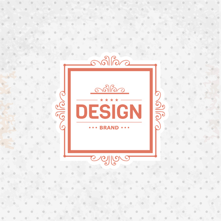 boutique hotel: Retro Vintage template Insignia on retro background. Luxury elegant design for cafe, restaurant, boutique, hotel, store, jewelry, badges and  label.