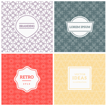promotional products: Set of Vintage backgrounds for Luxury banners, logo or promotional products. Vector Illustration Template.