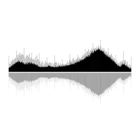 pulse: music sound wave. Audio digital equalizer technology, console panel, pulse musical. Illustration