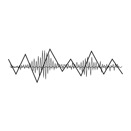 audio wave: music sound wave. Audio digital equalizer technology, console panel, pulse musical. Illustration
