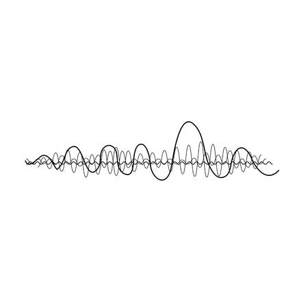 music sound wave. Audio digital equalizer technology, console panel, pulse musical. Illustration