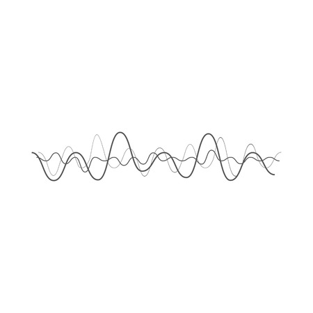 sonic: music sound wave. Audio digital equalizer technology, console panel, pulse musical. Illustration