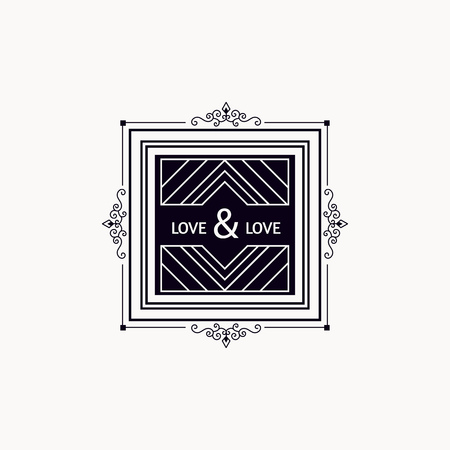 luxury template: Monogram luxury template with elegant ornament elements. Luxury elegant design for cafe, restaurant, boutique, hotel, shop, jewelry.