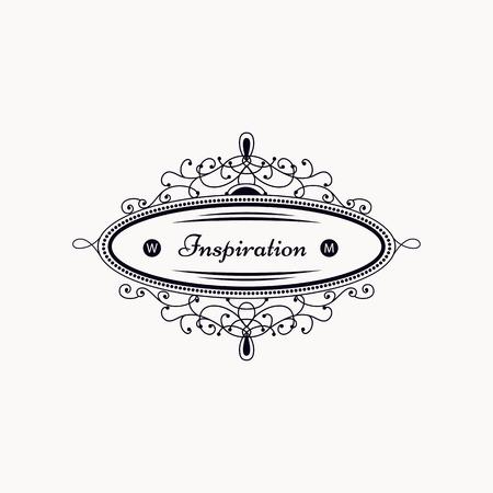 boutique hotel: plantilla de lujo del monograma con elegantes elementos de ornamentaci�n. dise�o elegante de lujo para el caf�, restaurante, tienda, hotel, tienda, joyer�a. Vectores