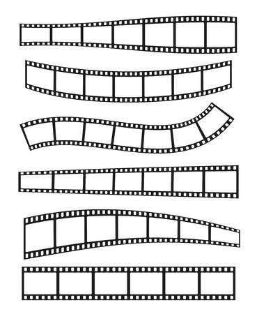 illustration réaliste de bande de film sur fond blanc. rouleau de film Template