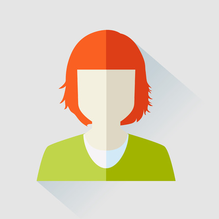 profile picture: Woman avatar face isolated on white background. Vector illustration Illustration