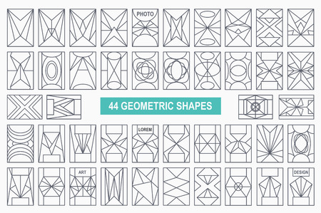 overlaying: Set of hipster geometric shapes. Rectangle abstract. Shapes made using line, triangles, rectangle, and other polygons. You can use it for design icons, logos masks and overlaying on photos.