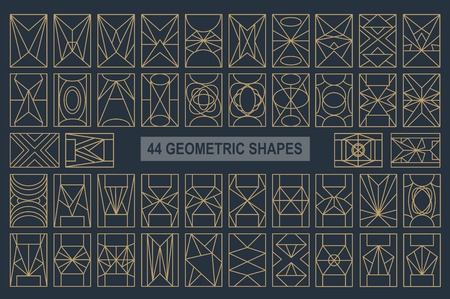 overlaying: Set of hipster geometric shapes. Rectangle abstract. Shapes made using line, triangles, rectangle, and other polygons. You can use it for design icons, masks and overlaying on photos Illustration