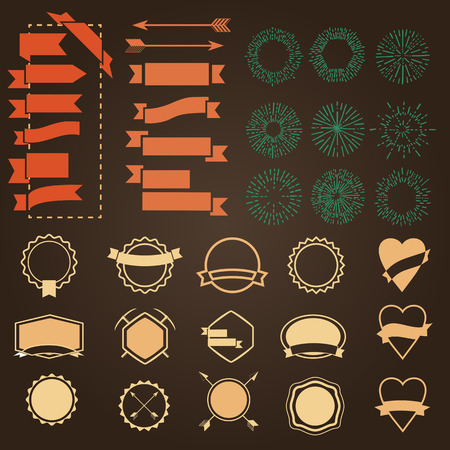 grunge banner: Retro Vintage template shapes elements. Forms vector design Illustration