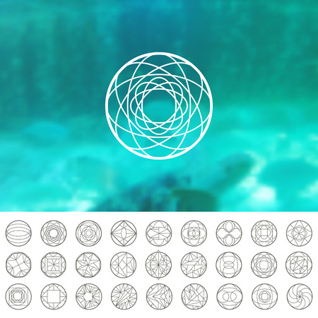 overlaying: Abstract vector geometric shapes. Circular. You can use it for design icons, logos masks and overlaying on photos.
