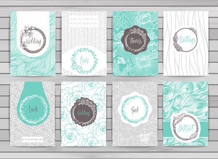 Fiori carte creative modello. Design elegante per bar, ristorante, araldico, gioielli, moda. Vettoriali