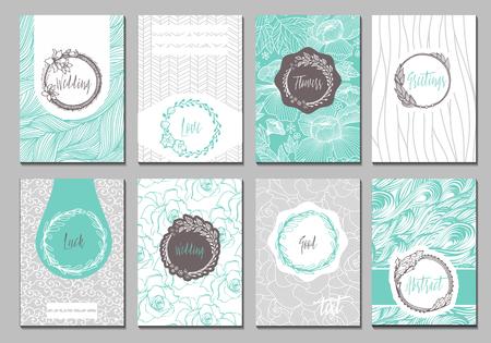 Fiori carte creative modello. Design elegante per bar, ristorante, araldico, gioielli, moda.
