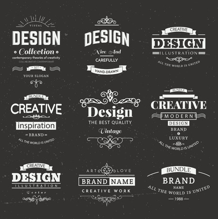 Retro creative vintage labels template and logo set vector design retro creative vintage labels template and logo set vector design elements business signs branding friedricerecipe Gallery