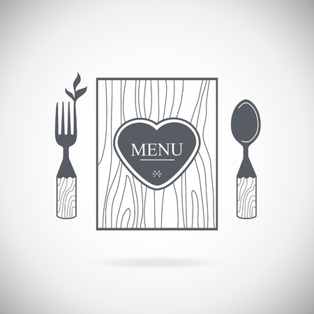 dining set: Set cutlery icon vector illustration. Black silhouette of fork, knife, spoon and plate. Table appointments. Menu