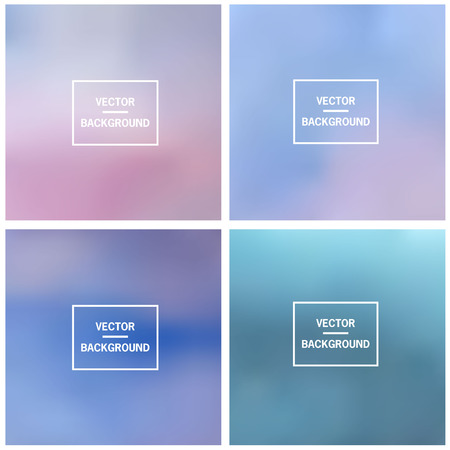 Abstract gradient set colorful blurred vector background. Vector blur background template.