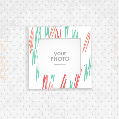 vintage photo: Vintage hipster retro stile. Decorative vector template frame. These photo prame can be use for kid picture or memories, scrapbook concept. Inset your picture.