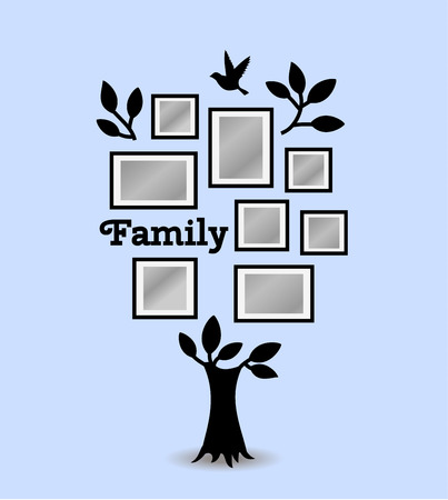 composite image: Memories tree with picture frames. Insert your photo into template frames. Collage vector illustration