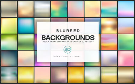 website backgrounds: Abstract colorful blurred backgrounds. Elements for your website or presentation.