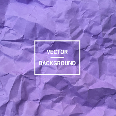 wrinkly: Vector background. Violet empty crumpled paper background.