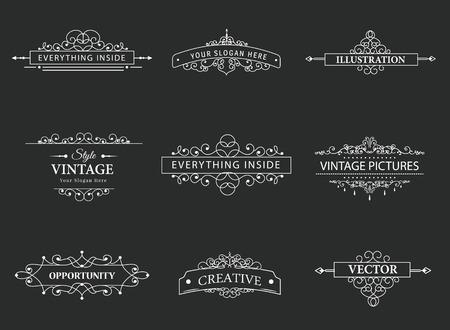 boarder: Set of creative vector templates Illustration