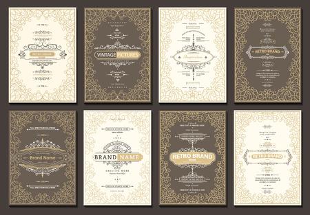 Plantilla de tarjetas creativas monograma con florece elementos de ornamento. Diseño elegante para café, restaurante, heráldica, joyería, moda