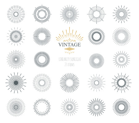 sunburst: Vector abstract illustration sunburst. Elements for icons. Templates elements for your design project. Light ray.