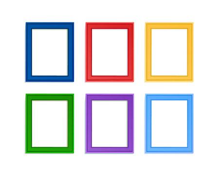 Multi gekleurde fotolijsten voor kinderen picture gecomponeerd in samenstelling.
