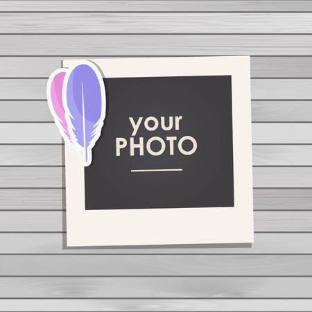 mother and baby: Photo frame Album template for kid, baby, family or memories. Scrapbook concept, vector illustration. Illustration