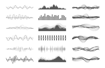 Vector music sound waves