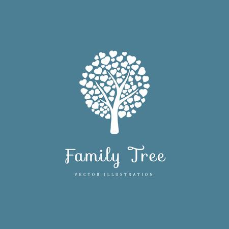 Stammbaum mit Herzen Vektorgrafik