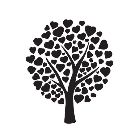 Liebe Baum mit Herzen