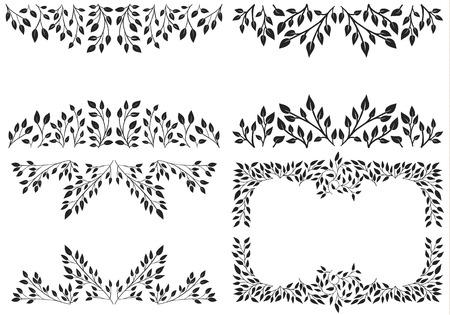 Set of Leafy background