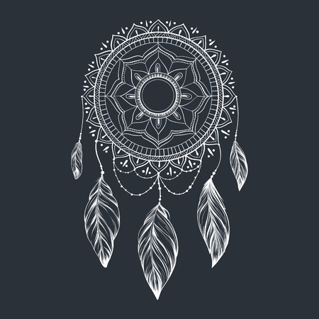 Dreamcatcher with feathers